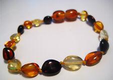 Multi-color  Knotted Baltic Amber  Baby Anklet/Bracelet