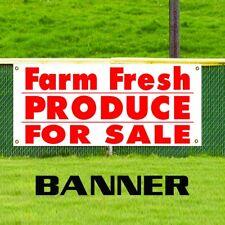 Farm Fresh Produce For Sale Food Fair Advertising Vinyl Banner Business Sign