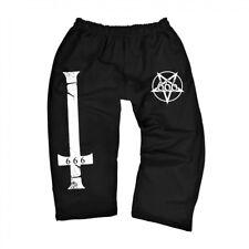 dreiviertel 3/4 Jogginghose Training Kreuz Pentagram 666 Antichrist Gothic