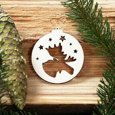 Baumkugeln mit Weihnachtsmotiven - Baumschmuck, Baumbehang - Deko aus Holz -NEU-