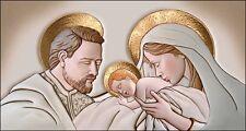 Quadro Sacro Religioso Capezzale Sacra Famiglia | The Kiss Ceramic oro e argento
