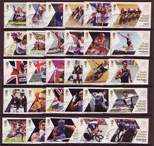 La Grande-Bretagne Jeux Olympiques Londres 2012 fine utilisé ensemble complet de 29 timbres simples