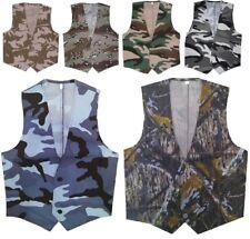 UNISEX MENS BOYS LIGHTWEIGHT WAISTCOAT FANCY DRESS ARMY CAMO COMBAT SOLDIER