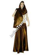 27Clr Satin Skirt Veil Belly Dance Costume Tribal Dress