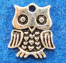 10Pcs. Tibetan Silver OWL Bird Charms Pendants Ear Drops Jewelry Findings BD25