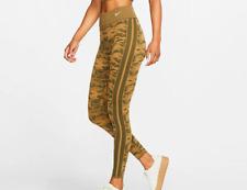 Nike Sportswear Women's Print Leggings CI6621-395 Olive Canvas XS-XL Multi Size