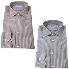 BRANCACCIO camisa hombre manga larga de rayas 100 % algodón slim