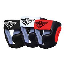 KIKFIT Boxen Kopfschutz MMA Gesichtschutz Kampfsport Sparring Helm Leder