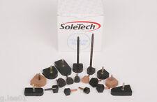 High Heel Replacement Tips Rubber Shoe Caps Stiletto Dowel Sole Tech 3 pair