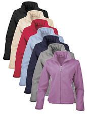 Ladies Womens RED CREAM LILAC BLUE BLACK Semi Micro Polyester Fleece Jacket