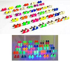 Ohrstecker 6 Formen Neon UV aktiv Ohrringe Ohrschmuck Leucht Effekt Trend Mode