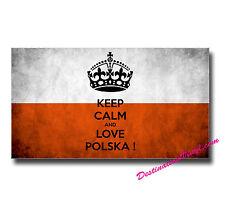 2 x Glossy Vinyl Stickers - Poland Polska Polish Flag Sticker Gift Idea  #0029