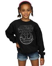 Star Wars Girls The Last Jedi Resistance Logo Metallic Sweatshirt