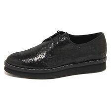 9242N scarpa allacciata TOD'S DERBY nero scarpe donna shoes women