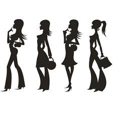 * 4 Stickers Femmes Fashion Mode *
