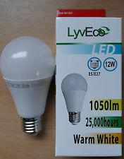 12w LED A60 (GLS) Light Bulbs ES Screw In E27 Warm White 75w Great Value!