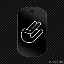 The Shocker Keychain GI dog tag engraved many colors  jdm