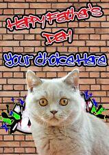 British CAT Graffiti padri Giorno personalizzata greeting card pidfd10 DAD DADDY