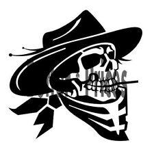Cowboy Skull Graphics Vinyl Decal Window Sticker Car Truck ATV Boat Windows ETC.