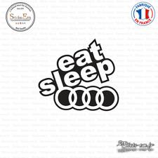 Sticker JDM Eat Sleep Audi Decal Aufkleber Pegatinas D-160 Couleurs au choix