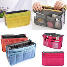 Sac de rangement pour organisateur de poche à sac à main en nylon double multLTA