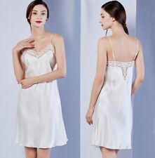 14587e6b50 Women s 100% Pure Mulberry Silk Chemise Nightgown Lingeries Gown Silk  Sleepwear