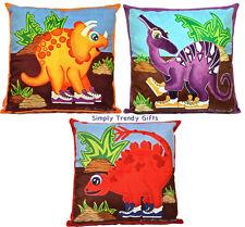 Dinosaur Cushion Covers Kids Bedroom Play Room Nursery Decor Themed Girl Boy Art
