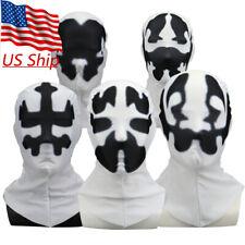 2019 New Watchmen Rorschach Hood Cosplay Superhero White Mask Balaclava Props