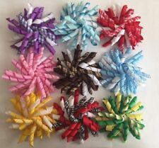 """Handmade 3.5"""" Gingham/Grosgrain Korker School Ponytail Bow Hair Clip/Barrette"""