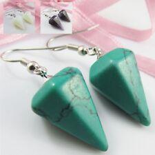 Gemstone Pendulum Hook Earrings 42-44mm Select Gemstone
