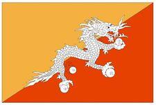 BHUTAN Flag Sticker MADE IN USA F57 YOU CHOOSE SIZE