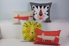 """Kids Animals Mr Fox Cute Home Cotton CUSHION COVER Throw PILLOW CASE 18"""" Gift"""