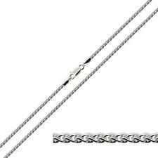 Solido 925 argento Sterling 1.8 mm SPIGA GRANO COLLANA CATENA BRACCIALE CAVIGLIERA