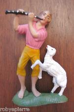 Statuina presepe vintage crib statue italy forse Isas '60 pastorello pecora rara