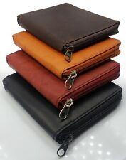AG Wallets Mens Premium Leather Bifold Zipper Zip Around Wallet Slim Hipster