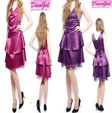 SALE Bridesmaid Dress Ladies Prom Sparkle Dress Wedding Party Dress Strap Satin