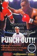 RGC Huge Poster - Mike Tyson's Punch Out Original Nintendo NES BOX ART - NES092