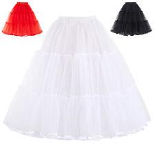 rétro pour femmes JUPON fête CRINOLINE combinaisons robe tutu voile jupe