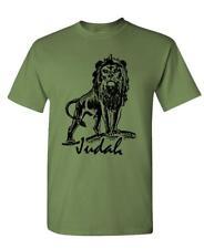 LION OF JUDAH - christian jesus christ god - Cotton Unisex T-Shirt