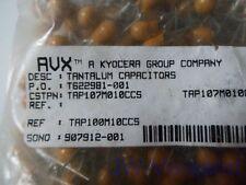 AVX Kyocera 100µF 10V Tantalum Capacitor TAP107M010CCS *5 Stück* *Neu*