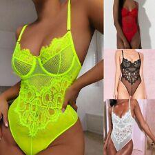 Women Lingerie Corset Lace Underwire Racy Muslin Bodysuit Temptation Underwear L