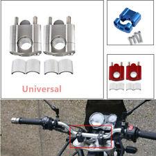 2PCS  7/8''22mm Motorcycle HandleBar Handle Fat Bar Mount Clamps Riser Useful