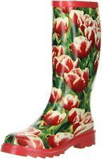 ConWay Damen Gummistiefel (Tulpen) rot