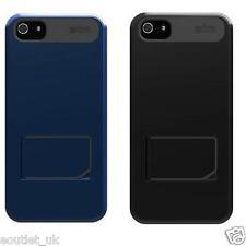 Genius sacs STM arvo étui béquille iPhone 5/5s/SE noir/bleu rrp £ 30 neuf
