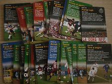 LOTTO 52 CARDS CARTE AZIONE FOOTBALL CHAMPIONS 2002-03 2003 MISTE BASE MERCATO