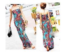 WOMEN LADIES SUMMER BEACH EVENING PART MAXI DRESSES B009 SIZE 6 8 10 12 14 16 18