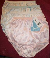 4 Pair Pastel Color Nylon Panties KIDS SIzes Full Brief 1 Pink, 1 Blue & 2 White