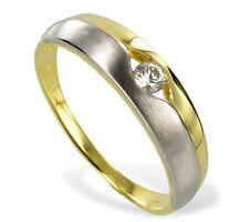 ECHT GOLD *** Zirkonia Ring Goldring bicolor, Größenauswahl