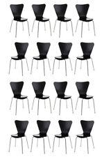 16x Besucherstuhl Stuhl Holz ergonomisch geformte Sitzfläche  10 Farben
