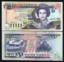 EAST CARIBBEAN STATES ANGUILLA 50 DOLLARS P29U 1993 QUEEN TURTLE UNC RARE NOTE